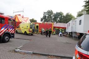 Man komt onder vrachtwagen terecht bij Circus Barani in Boxmeer
