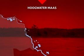 Zo laat bereikt het water van de Maas bij jou het hoogste punt