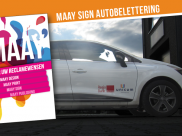 MAAY sign autoreclame